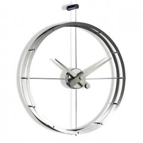 . Nomon 2 PUNTOS i DOS PUNTOS chrome часы Ø55 см