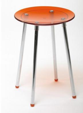 . Стул круглый табурет для ванной Оранжеый 5365KA