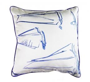 Декоративные подушки Deluxe. Подушка Voilurs Bleu Azur