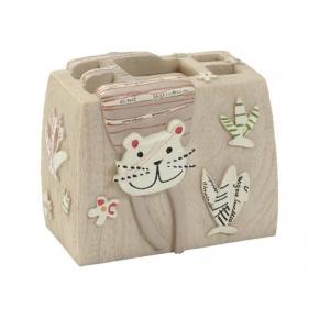 Аксессуары для детских ванных комнат. Стакан для зубных щеток Animal Crackers ANC60NAT