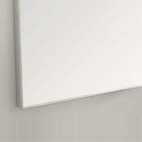 Зеркала для ванной. Eban Зеркало в раме Linea 90х70 alluminio satinato