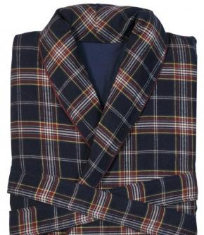 Халаты Одежда для бани и сауны. Халат мужской фланелевый Edward (Эдвард) (S,M,L) Синий от Casual Avenue