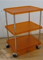 Этажерки для ванной. Этажерка на колесиках с 3-мя полками 5374KA (Оранжевый)