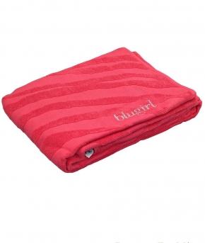 Полотенца хлопковые Deluxe. Полотенце пляжное банное maxi Cosmopolitan (100х180) Коралл 78772 от Blugirl
