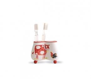 Аксессуары для детских ванных комнат. Стакан для зубных щеток Kiddie Farm XKIDDE001R