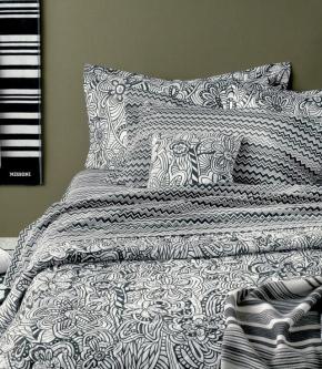 Постельное бельё Deluxe. Постельное белье двуспальное Ozzy (200×220) Черный от Missoni