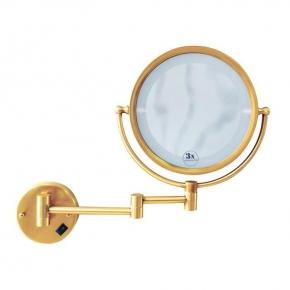 Зеркала косметические с подсветкой увеличением настенные настольные Зеркала с присосками. Зеркало настенное с подсветкой Imperiale, двустороннее, с троекратным увеличением 503