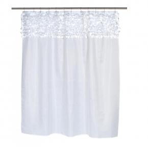 Шторки для душа и ванны текстильные. Шторка для ванной Jasmine White FSCL-JAS/21