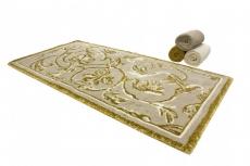 Коврики для ванной комнаты. Коврик для ванной Династия Серый-золотой растительный декор Abyss&Habidecor