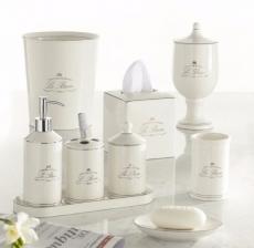 . Le Bain White керамические настольные аксессуары для ванной