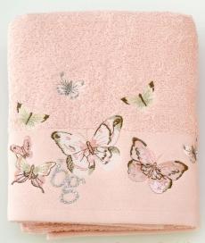 Полотенца хлопковые Deluxe. Полотенце банное 100х150 Castadiva Розовое от Blugirl Art.78673-20