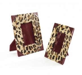 Рамки для фотографий Deluxe. Рамка для фото с кожаной отделкой (леопард)