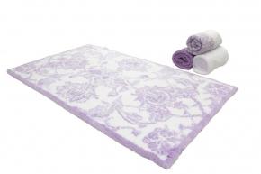. Коврик для ванной Живерни Белый-фиолетовый Abyss & Habidecor