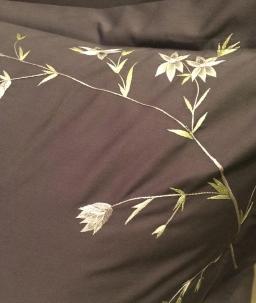 Постельное бельё Deluxe. Элитное постельное белье Ветви двуспальное (200х200) Угольно-Серый от Catherine Denoual Maison