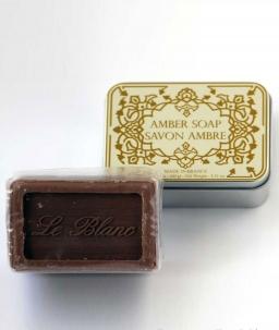 Luxury Гель для душа Мыло. Мыло ароматизированное Амбра в жестяной коробочке от Le Blanc