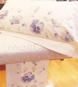 . Постельное белье двуспальное с пододеяльником Denise Голубой от Blugirl art.76338