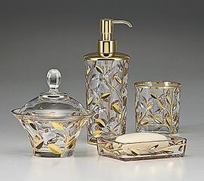 . Crystal Vine Gold стеклянные настольные аксессуары для ванной