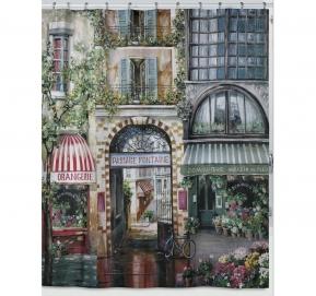 Шторки для душа и ванны текстильные. Шторка для ванной Rue di Rivoli S1205MULT