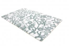 . Коврик для ванной Жардин Белый-серебро растительный декор Abyss & Habidecor