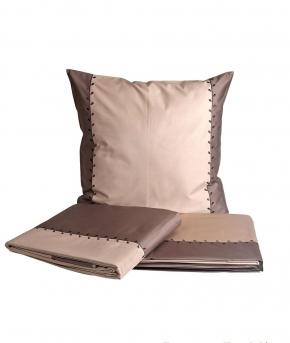Постельное бельё Deluxe. Королевский комплект Листья песочно-ореховый от Catherine Denoual Maison