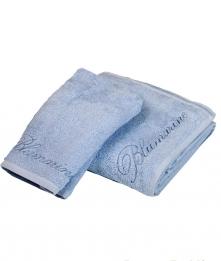 Полотенца хлопковые Deluxe. Комплект полотенец 1+1 Top Model Голубой от Blumarine Art.78572-03