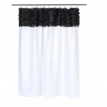 Шторки для душа и ванны текстильные. Шторка для ванной Jasmine White/Black FSCL-JAS/75