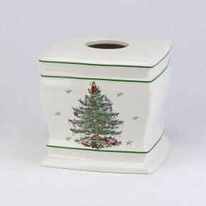 Салфетницы настольные настенные. Бокс для салфеток (салфетница) Spode Christmas Tree 11523E