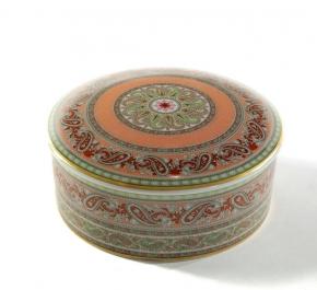 Посуда Столовые приборы Декор стола Deluxe. Шкатулка фарфоровая с узором (12 см)