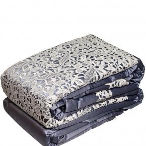Пледы Покрывала Deluxe. Покрывало (270х270) и 3 декоративные подушки (40х40-2 шт., 36 см) Soraya Синий
