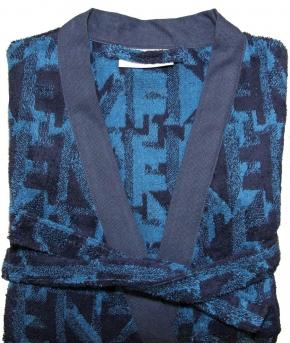 Халаты Одежда для бани и сауны Deluxe. Халат мужской кимоно (L; XL; XXL; XXXL) Logo 3D Cobalt (Лого 3D Кобальт) от Kenzo