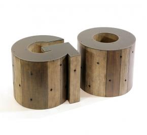 Журнальные Приставные Кофейные столы. Стол приставной Wooden Alphabet O