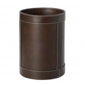 . Ведро кожаное круглое Rotondo waste paper basket by GioBagnara