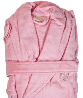 Халаты Одежда для бани и сауны Deluxe. Халат банный с сумочкой Positano Розовый (S/M; L/XL)  от Blumarine Art.78504-78505
