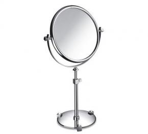 Зеркала косметические с подсветкой увеличением настенные настольные Зеркала с присосками. Зеркало настольное 99526CRB 3X (white) Moonlight Chrome Swarovski