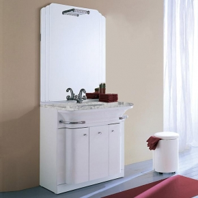 Мебель для ванной комнаты. Eurolegno Hollywood Композиция 51 Комплект мебели 84 см, цвет: глянцевый белый