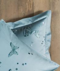 Постельное бельё Deluxe. Постельное белье семейное Бабочки Голубой (140х200 - 2шт) от Catherine Denoual Maison