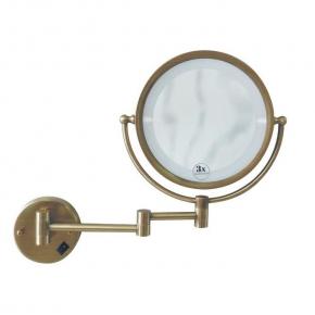 Зеркала косметические с подсветкой увеличением настенные настольные Зеркала с присосками. Зеркало настенное с подсветкой Medici, двустороннее, с троекратным увеличением 501