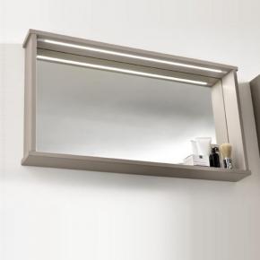 Зеркала для ванной. Eban Зеркало с полкой и LED-подстветко 80x54 Mina