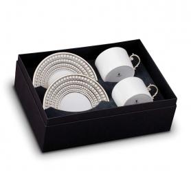 Посуда Столовые приборы Декор стола Deluxe. Чайный набор Perlee Platinum