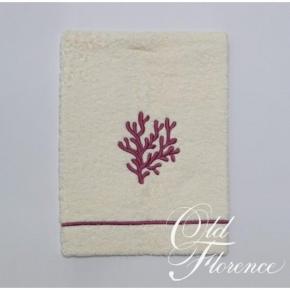Полотенца хлопковые. Полотенце с вышивкой (лиловый) КОРАЛО 60х110