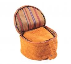 Полотенца хлопковые Deluxe. Полотенца в косметичке оранжевое