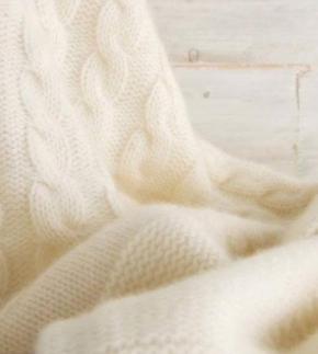 . Плед Top (100% кашемир) Белый 140х180 см от Co.Bi