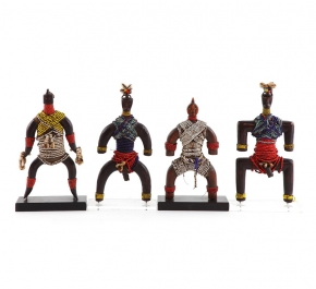 Предметы декора Deluxe. Фигура воина африканского племени
