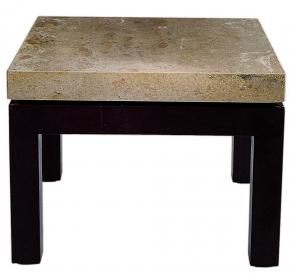 Журнальные Приставные Кофейные столы. Стол приставной Walnut Travertine