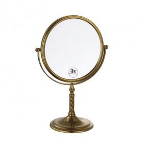 Зеркала косметические с подсветкой увеличением настенные настольные Зеркала с присосками. Зеркало настольное Medici двустороннее, с троекратным увеличением 502