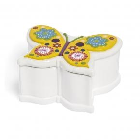Аксессуары для детских ванных комнат. Косметическая емкость с крышкой Butterflies ABF-CJ