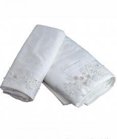Полотенца хлопковые Deluxe. Полотенца для лица и рук 1+1 Lisa Белый от Blumarine Art.78676-04
