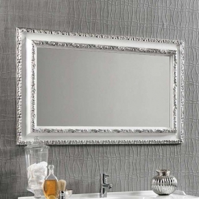 Зеркала для ванной. Eban Зеркало в раме Marika 90х70 bianco argento