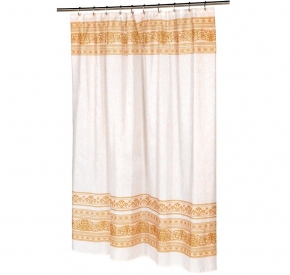 Шторки для душа и ванны текстильные. Шторка для ванной Fleur FSC-FL/02