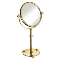 Зеркала косметические с подсветкой увеличением настенные настольные Зеркала с присосками. Зеркало настольное 99526OB 7XOP (white) Moonlight Gold Swarovski